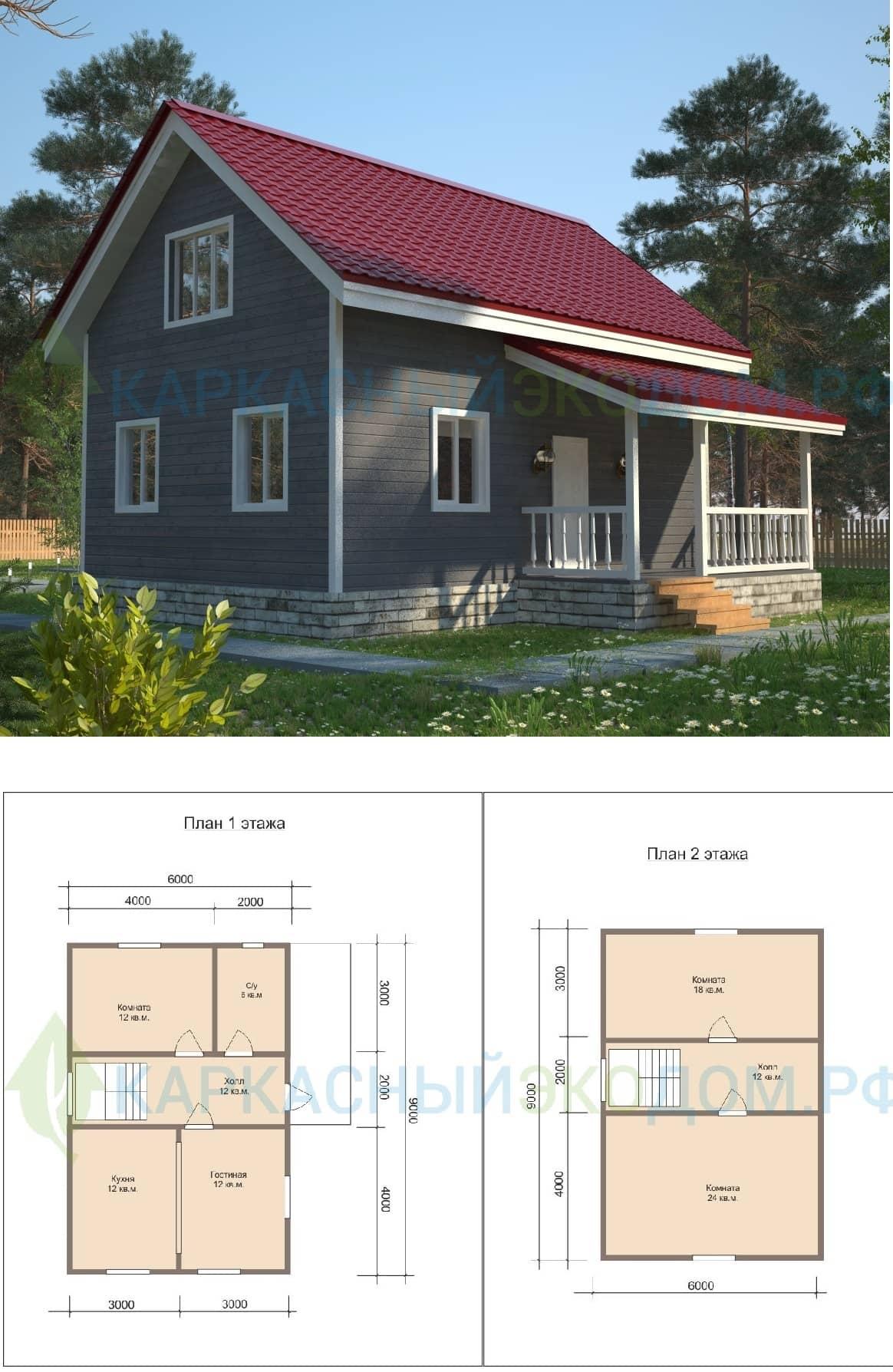 Построить каркасный дом недорого для постоянного проживания